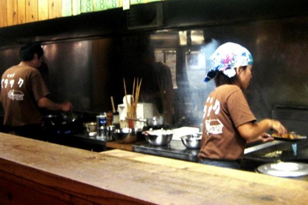 The Barakku Bistro and Izakaya in Aharen Tokashiki-son Island Okinawa has a busy husband and wife team