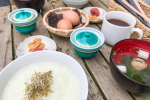 A simple and healthy Japanese countryside breakfast