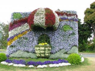 Un paysage de fleurs à prendre en photo