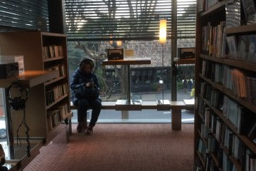 Inside the fabulous Tsutaya Books there are comfy seats to get lost in a good book