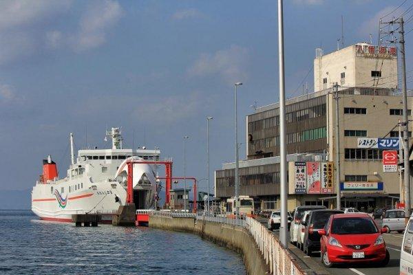 Yawatahama car ferry terminal serving Kyushu