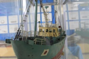 A model ship in the museum section