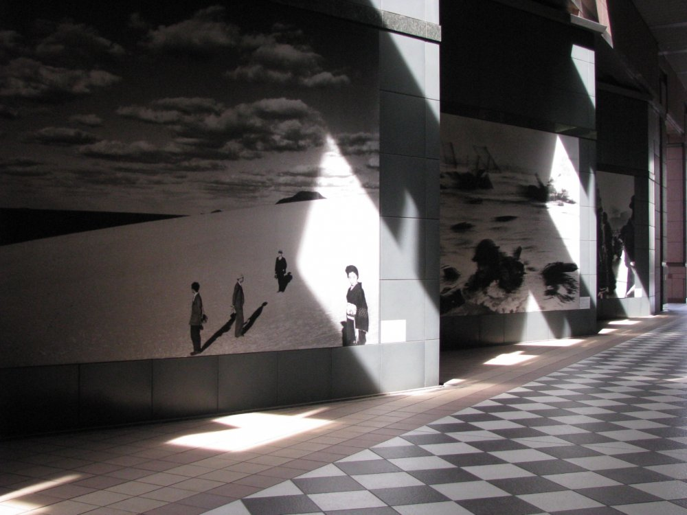Outside the museum is decorated with photos