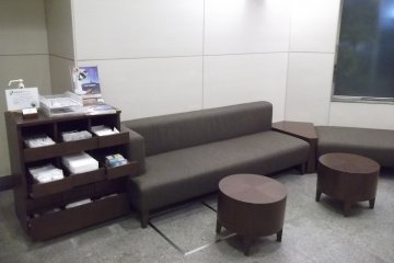 Rest here by reception