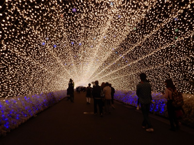 The breath-taking scene of Tunnel of Lights