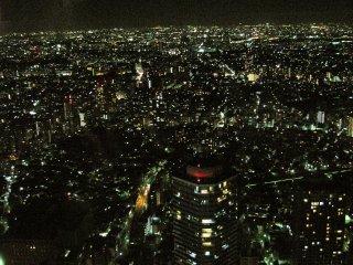 La vue depuis le 60e étage