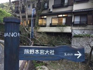 Le chemin pour Hongu Taisha au départ de Yunomine Onsen