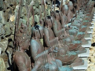 Don't miss the bronze statues lined up behind the Daishido