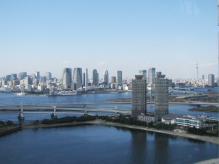 The view of Odaiba district