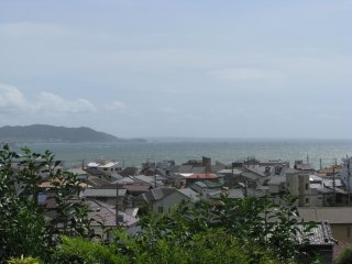 The view of Kamakura and the ocean