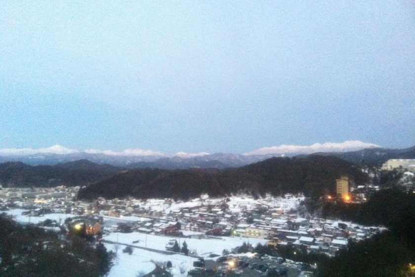 The view from the onsen