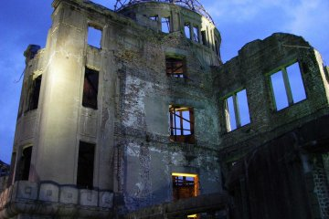 A-Bomb Dome looks scary at night