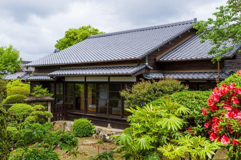 The Zen garden and home of the Katsume estate