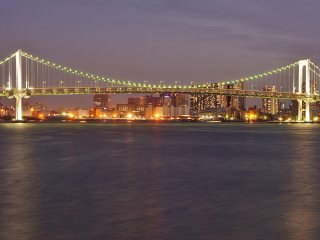 Rainbow Bridge view from the Harumi Passenger Ship Terminal