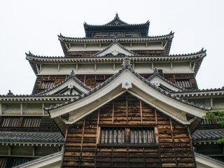 Hiroshima Castle, which was rebuilt after it was destroyed in 1945 by the atomic bomb.