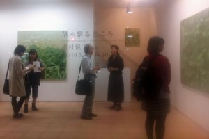 Etsuko Kawamura exhibition on Place wherein Plants Thrive at Nuit Blanche at Imura Gallery Kyoto