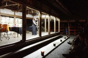 Jazz meets Sake Barrels at White Night or Nuit Blanche in Kyoto