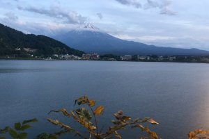 Mt. Fuji & Lake Kawaguchi, as seen from the path