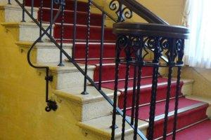 The Art Deco railing is impressive
