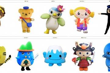 Японские персонажи-талисманы
