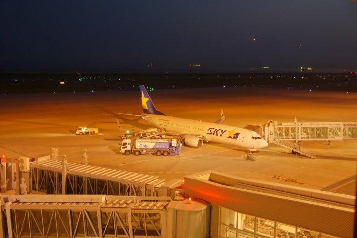บริเวณจุดชมเครื่องบินสนามบินโกเบ