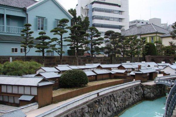 Une réplique à l\'échelle de Dejima