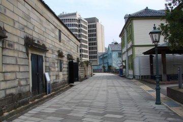 A view of Dejima's sole street