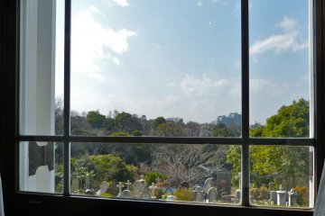 <p>View from the window seat of the Foreign Cemetary, and beyond</p>