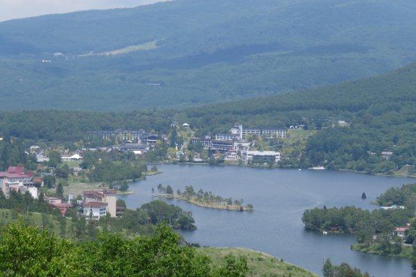 View from the Kirigamine Plateau of Lake Shirakaba