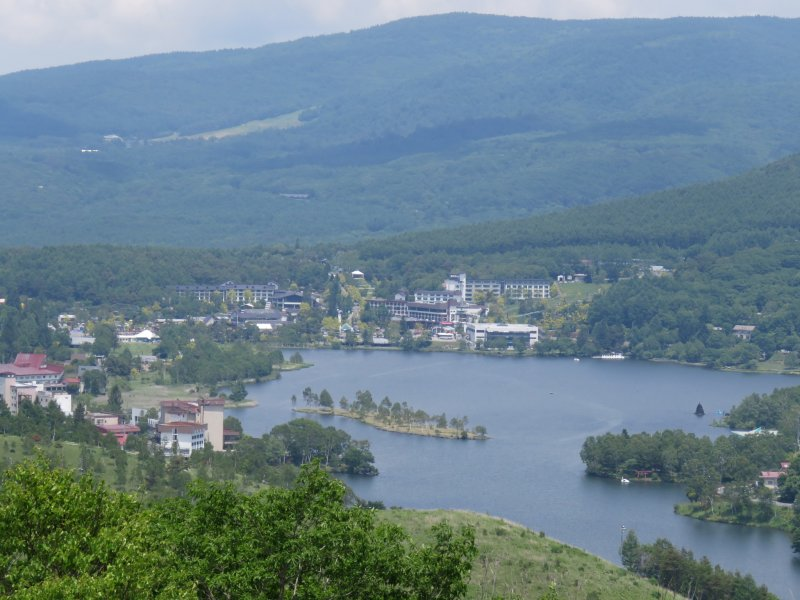 View from the Kirigamine Plateau of Lake Shirakaba