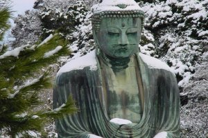 The Great Buddha of Kamakura is world-famous.