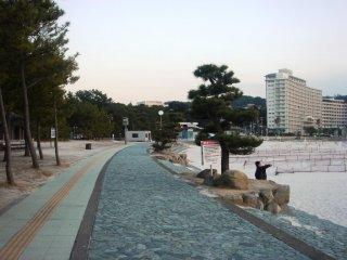 Khu vực dạo quanh bãi biển Shirahama