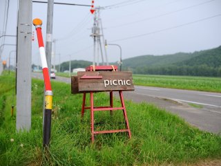 Road sign and directions to Picnic