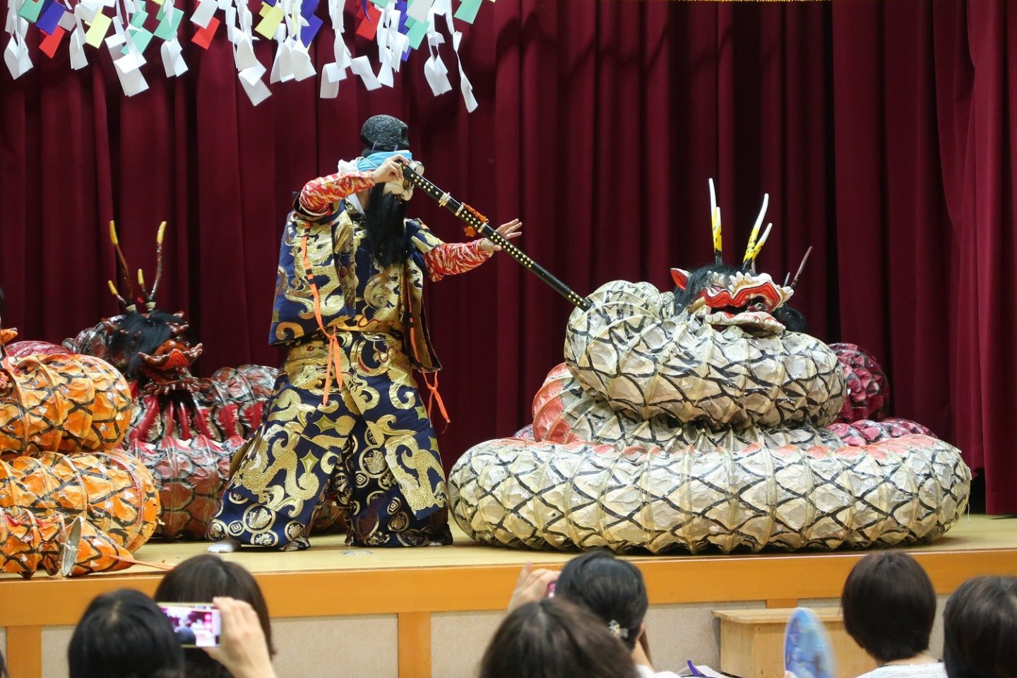 Fight with the evil serpent (Orochi story)
