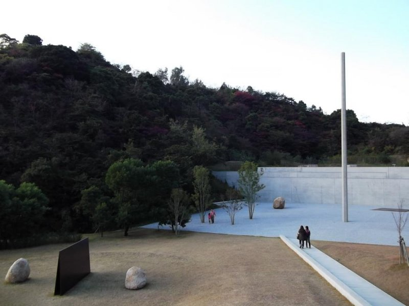 <p>The view down the slope to the museum</p>
