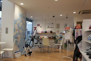 The store has everything for cyclists who want a high quality experience