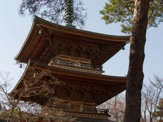 An impressive pagoda can be found right after the main entrance to the left