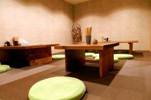 Một góc với thảm tatami ấm áp