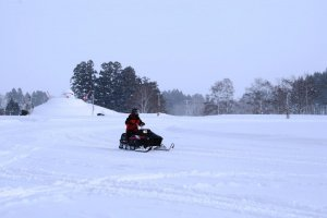 Kesenangan musim dingin di Taman Salju Dondendaira.