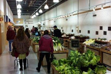 Fresh vegetable section