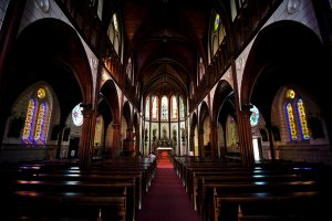 Inside the 1890 built St Francis Xavier Cathedral