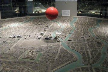 Красный шар - эпицентр взрыва