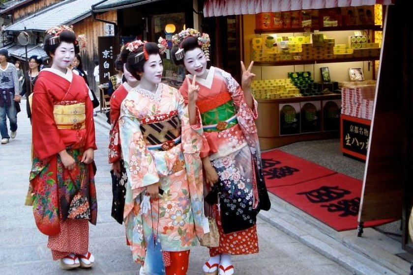 Dress up as a Geiko for a day at Nene Street between Sannenzaka and Gion Shirakawa