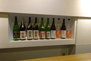 京都の日本酒が揃えられています