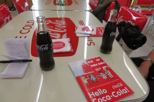 Free Coke products during the tour
