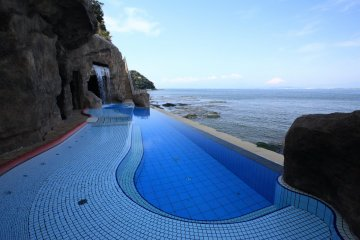 Outdoor Pool in Cave Area