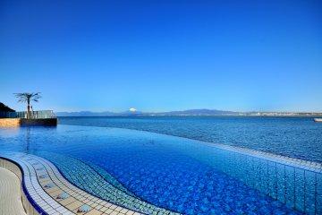 2nd Floor Outdoor Pool; notice Mt Fuji in background
