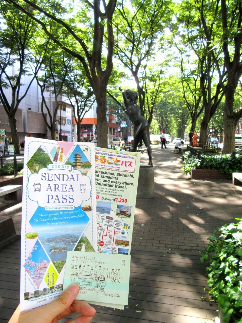 The Sendai Area Pass is useful if you are taking the public transport to visit Sendai's attractions.
