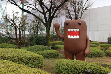 Outside the NHK Museum in Shibuya, A Big Domo Greets You