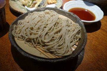Cold soba dish, Zaru Soba